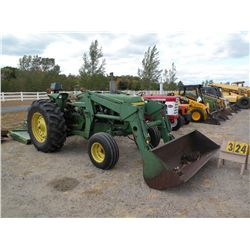 John Deere 2440 w/John Deere 613 mower, loader, chains 2440A-372957T