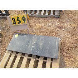 Skid loader mount tool plate -new