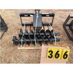 """Lowe Model 750 post auger w/10"""" & 12"""" bit -new"""