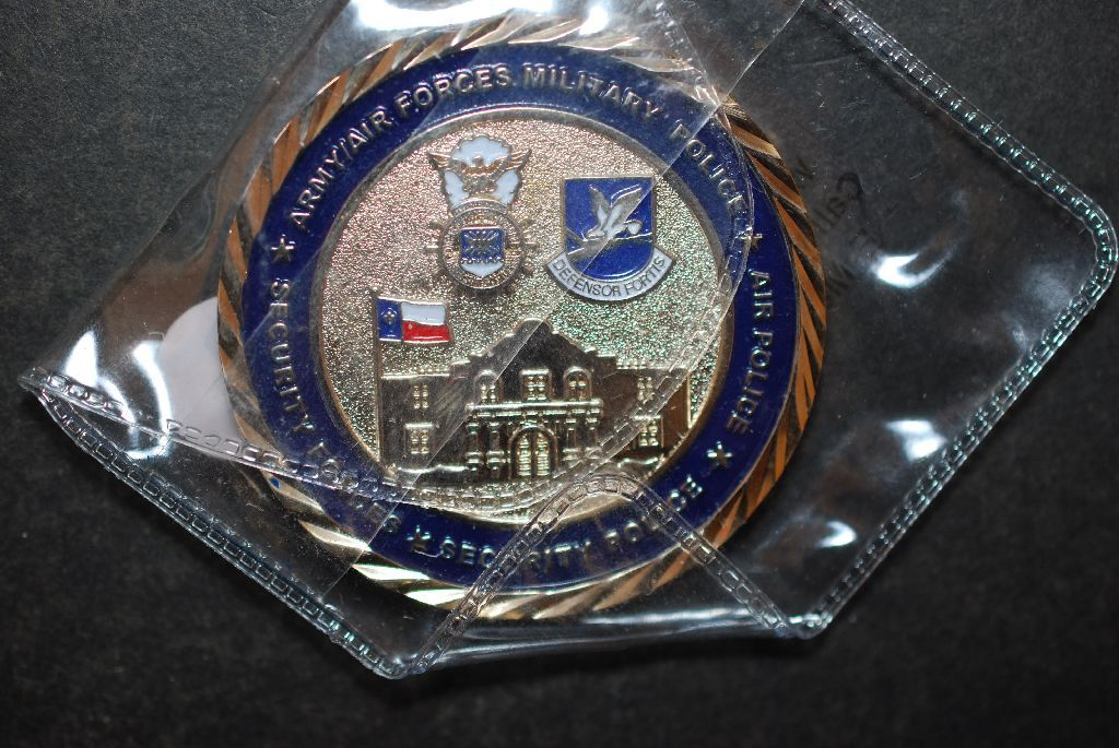 Air Force Security Forces Association Alamo Chapter Military Challenge  Coin