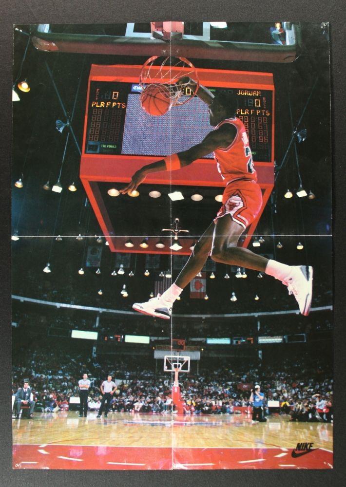Michael Jordan Bulls 16x23 Vintage Nike Poster. Loading zoom 2e058b8a2
