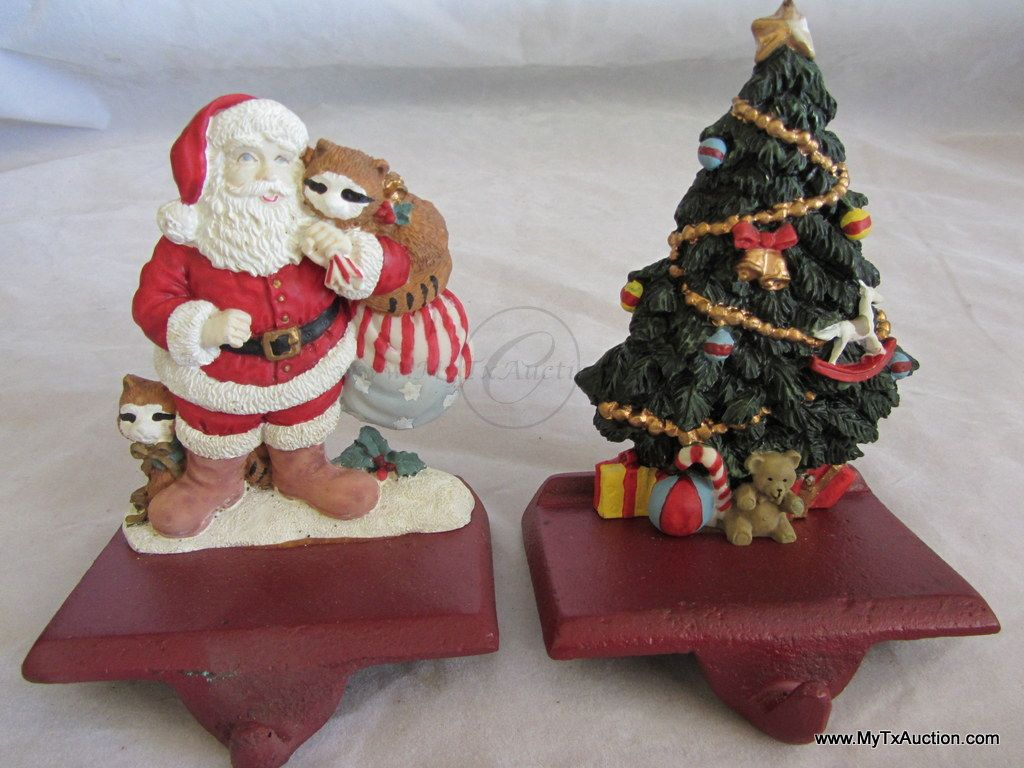 Christmas Stocking Hangers For Fireplace.2 Fireplace Mantle Shelf Christmas Stocking Hangers