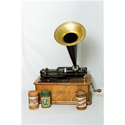 Edison Home Phonograph: Manufactured in Orange, NJ.