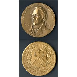Alexander Hamilton Commemorative Medal.