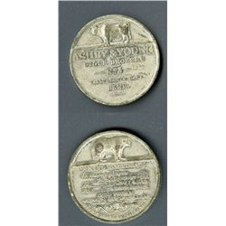 Ashby & Young Stock Brokers Pass, White Metal Ticket or Medal.