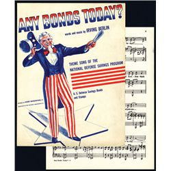 Irving Berlin Sheet Music for Theme Song of the National Defense Savings Program.