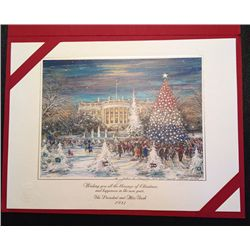 White House: The official Christmas Card of President and Mrs. Bush in 1992.