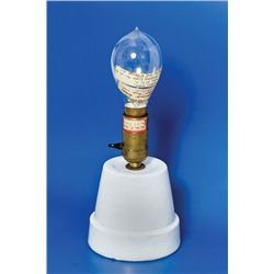 Edison Light Bulb: A light bulb from the trial Edison Electric Light Co.
