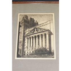 New York Stock Exchange Original ca. 1926 etching by H. Devitt Welsh.