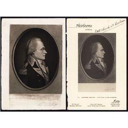 Alexander Hamilton Mezzotint By Engraving Master Max Rosenthal.