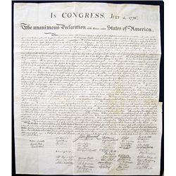 Peter Force 1848 Printing From the 1823 J.W. Stone Declaration of Independence Copy.