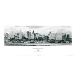 Skyline View of 1920-30's New York Used on Mortgage Bond Co. Specimen Bond.