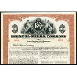 Celebrating their 125th Anniversary, Bristol-Myers Co., Specimen Bond.