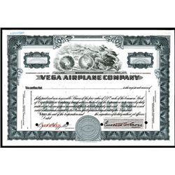 Celebrating their 100th Anniversary, Vega Airplane Co. (A Lockheed Corporation Subsidiary), Specimen