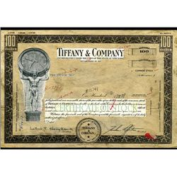 Tiffany & Company, Unique Stock Certificate Model From 1969.