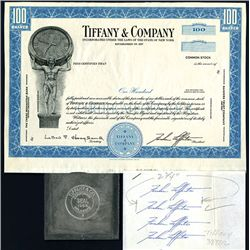 Tiffany & Company, Unique Production Proof, Metal Seal With Seal Models & Original Signatures of Far