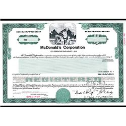 Celebrating their 50th Anniversary, McDonald's Corp., Specimen Stock.