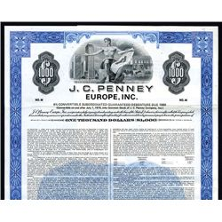 Celebrating their 50th Anniversary, J.C. Penney Europe, Inc., Specimen Bond.