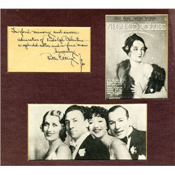 Ruth Etting Autographed Note with Photos From 1934.