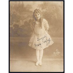 Mary Pickford Signed Sepia Photograph.