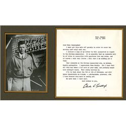 Charles Lindbergh Autograph on Letter and Black & White Photo.