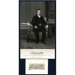John Jacob Astor Signature and Lithograph.