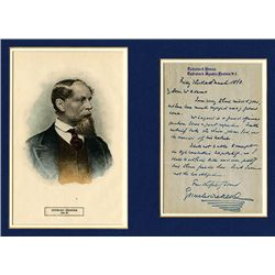 Charles Dickens Autograph on Letter and Color Engraved Portrait.