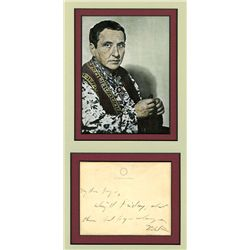 Gertrude Stein Autograph on Letter and Color Photograph.
