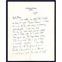 Noel Coward Signed Letter, 1947.
