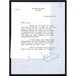 Noel Coward Signed Letter, 1958.