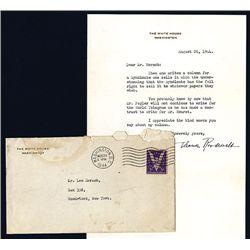 Eleanor Roosevelt Signed Letter and Envelope, 1944.