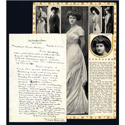 Joyce Kilmer Signed Letter, 1916.