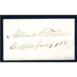 Millard Fillmore Courtesy Autograph on Buffalo, June 9, 1868 Dated Card.