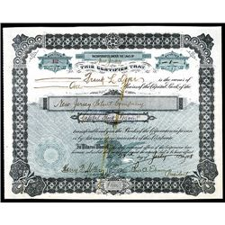 Thomas Edison Signed New Jersey Patent Co. Issued Stock Certificate.