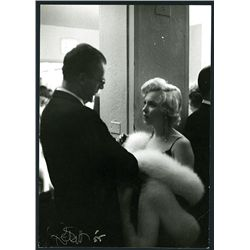 Marilyn Monroe Meeting Arthur Miller Gelatin Silver Print Photograph from 1958 Signed by Photographe
