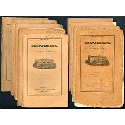 Harvardiana Volume IV. Nos. I thru 10, 1837-1838.