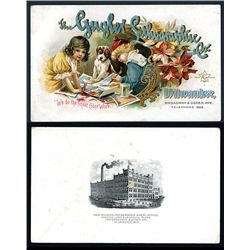 Gugler Lithographic Co., Advertising Trade Card.