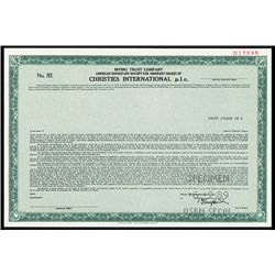 Christies International plc.. Specimen ADR.