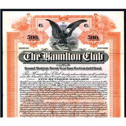 Hamilton Club, Specimen Bond.