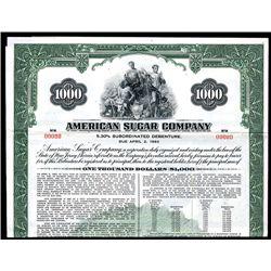 American Sugar Co., Specimen Bond.
