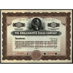 Amalgamated Sugar Co., Specimen Stock.