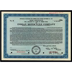 Indian Motorcycle Co., Specimen Stock.