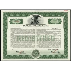 Alaska Airlines, Inc. Specimen Bond.