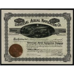 Universal Aerial Navigation Co. Issued Stock.