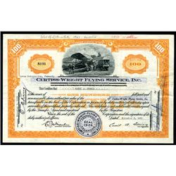 Curtiss-Wright Flying Service, Inc. Issued Stock.