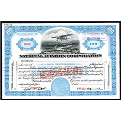 National Aviation Corp., Specimen Stock.