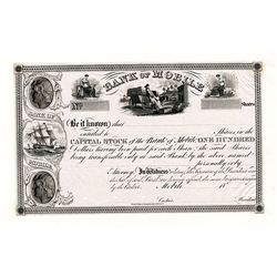 Bank of Mobile, Proof Stock Certificate.