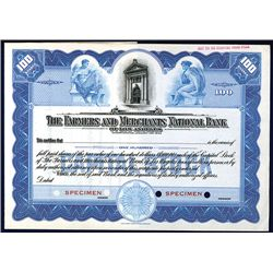 Farmers & Merchants National Bank of Los Angeles Specimen Stock.