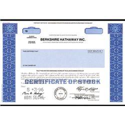 Berkshire Hathaway Inc., Specimen Stock.