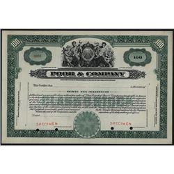 Poor & Company, Specimen Stock Certificate.